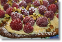 tarte fine Framboise pistaches thermomix