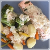 saumon légumes beurre blanc lolomix thermomix_Fotor